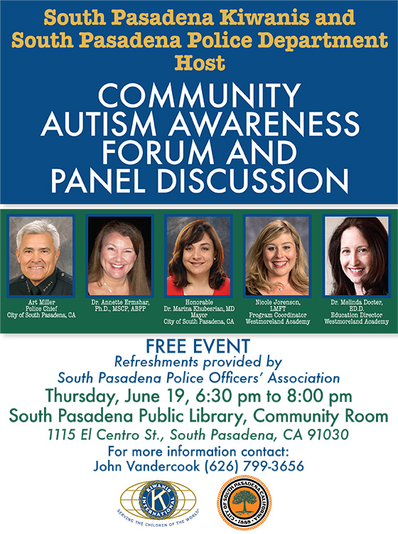 Community Autism Awareness Forum and Discussion June 19th 2014