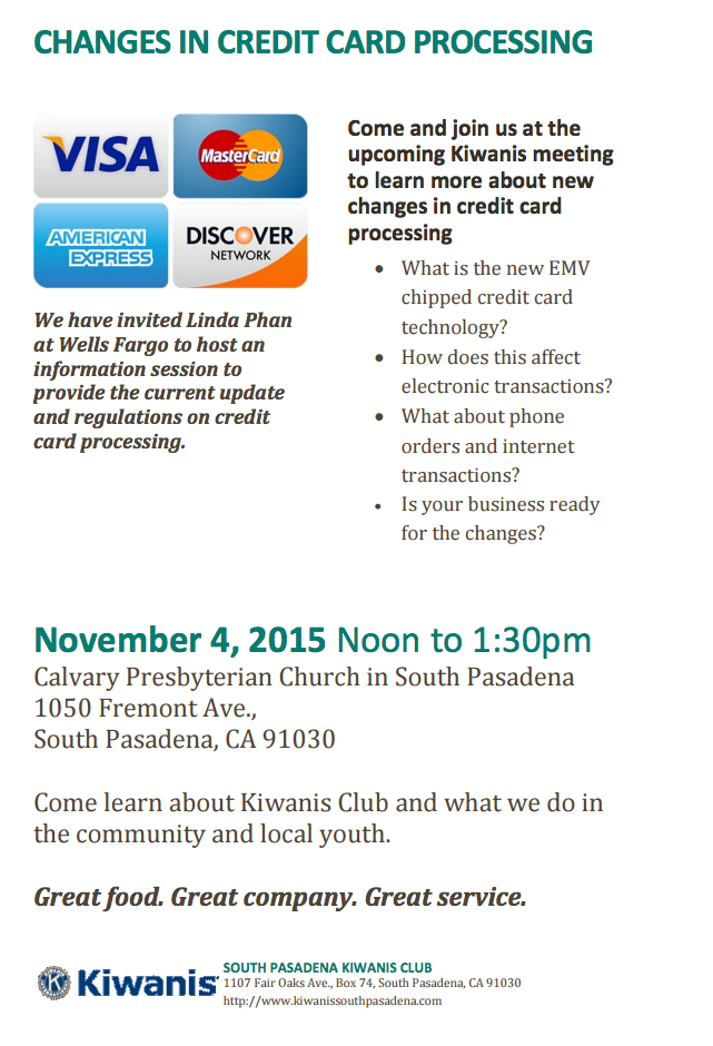 Credit Card Processing Flyer